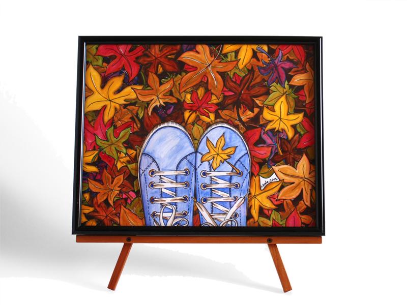 autumn at my feet illustrazione