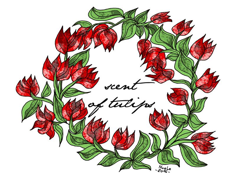 scent of tulips illustrazione