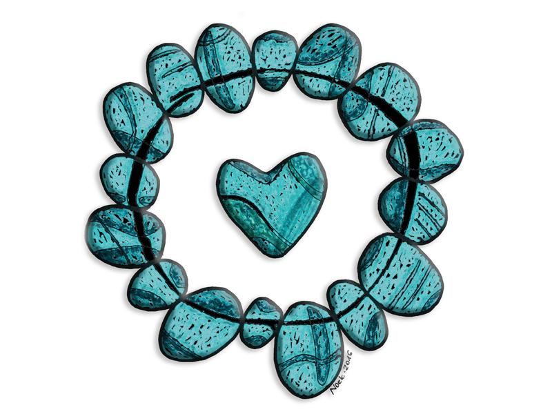 stoned heart illustrazione